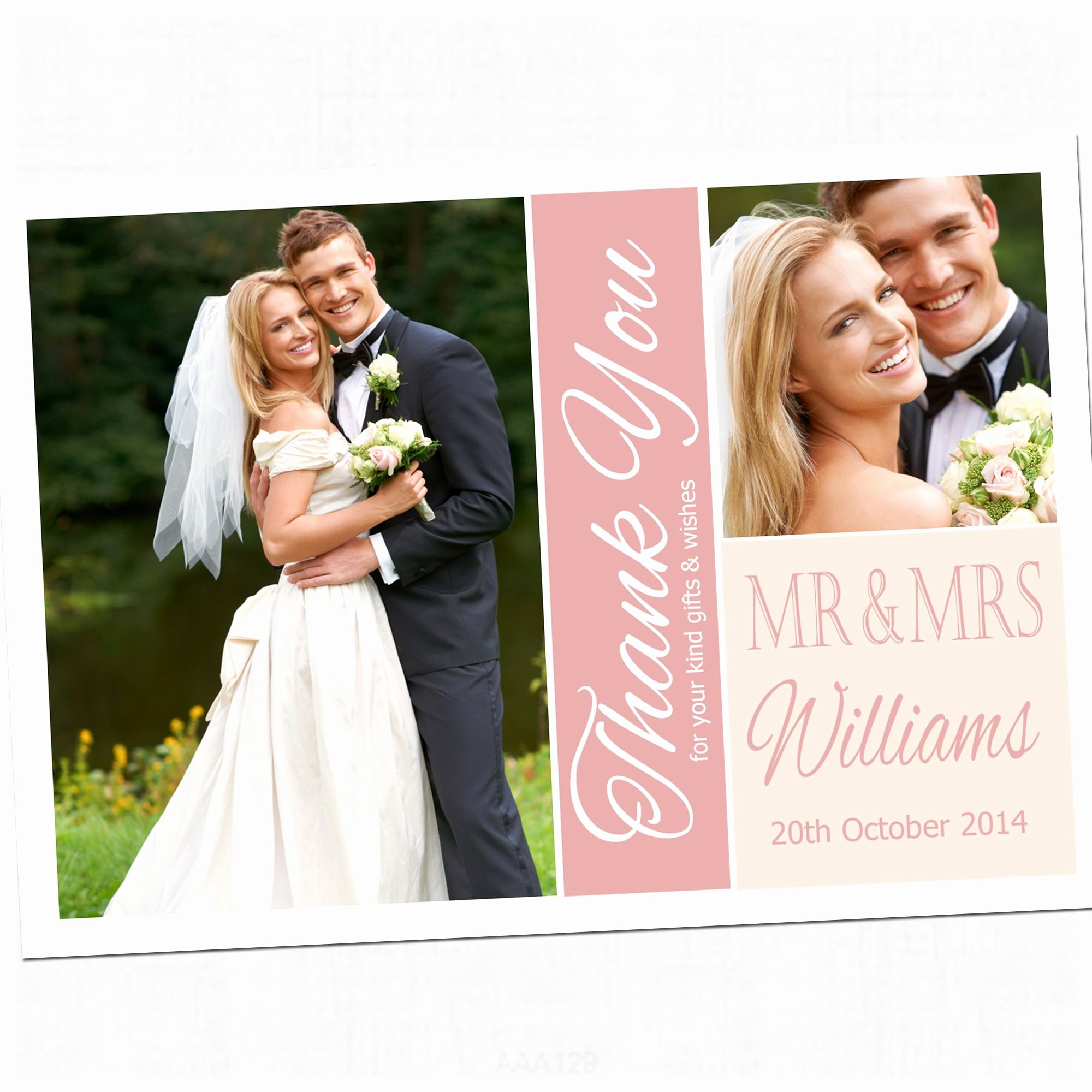 Wedding Thank You Card Template Fresh Choose Color Wedding Thank You Cards Photo Incredible