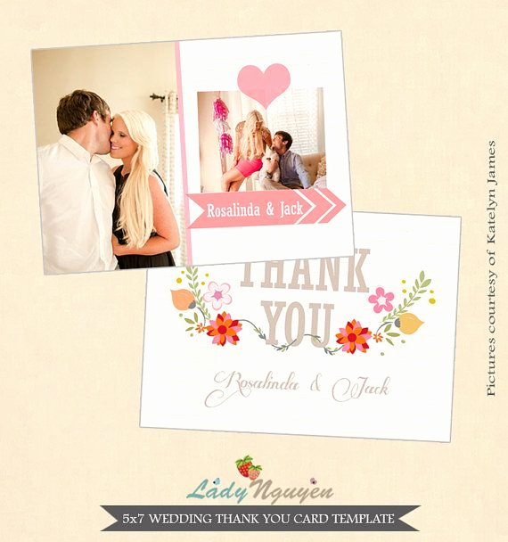 Wedding Thank You Card Template Inspirational 1000 Images About Wedding Thank You Templates On