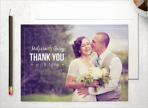 Wedding Thank You Card Template Inspirational 18 Wedding Thank You Cards Psd Ai Vector Eps