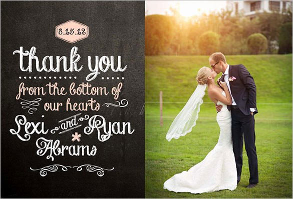 Wedding Thank You Card Template Lovely 18 Wedding Thank You Cards Psd Ai Vector Eps