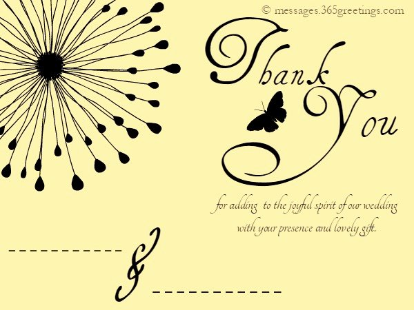 Wedding Thank You Card Template Lovely Wedding Thank You Messages 365greetings