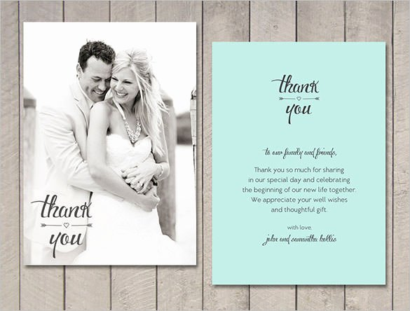 Wedding Thank You Card Template Luxury 18 Wedding Thank You Cards Psd Ai Vector Eps