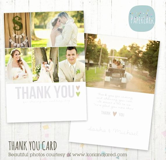 Wedding Thank You Card Template Luxury Wedding Thank You Card Shop Template by Paperlarkdesigns