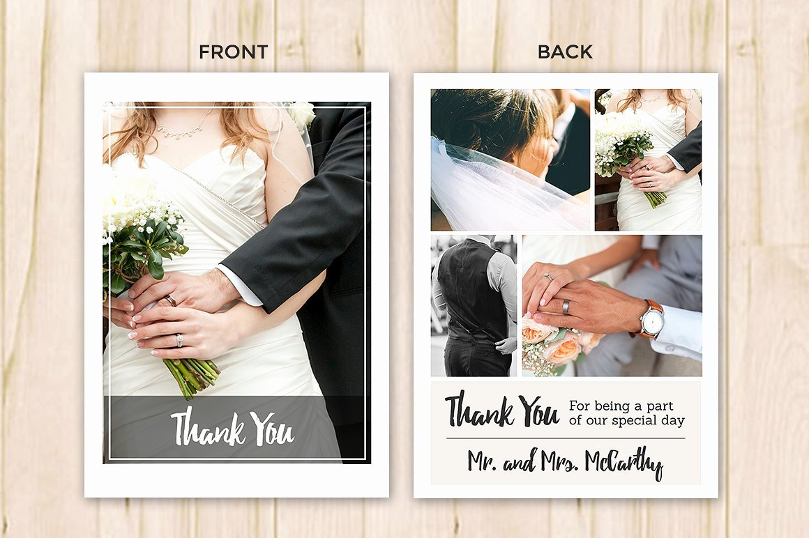 Wedding Thank You Card Template Luxury Wedding Thank You Card Template Flyer Templates