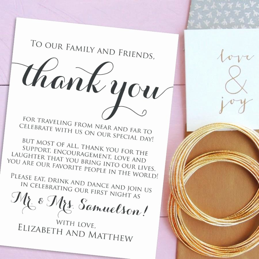 Wedding Thank You Card Template New Free Printable Wedding Thank You Cards Templates