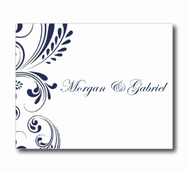 Wedding Thank You Card Template New Wedding Thank You Card Template Navy Wedding Editable