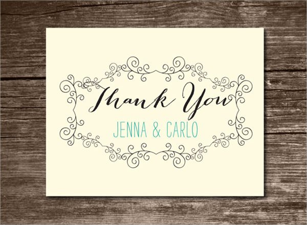 Wedding Thank You Card Template Unique 23 Printable Thank You Card Templates to Download