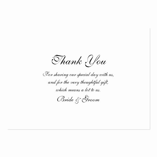 Wedding Thank You Card Template Unique Thank You Wedding Template Business Cards