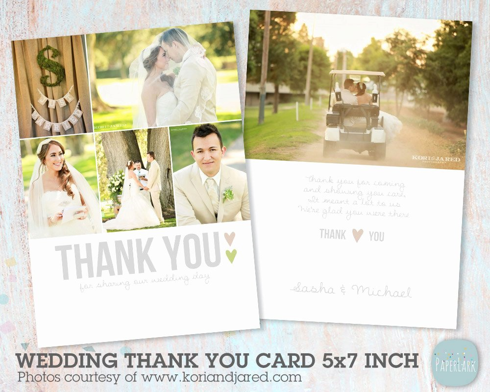 Wedding Thank You Card Template Unique Wedding Thank You Card Shop Template Aw002 Instant