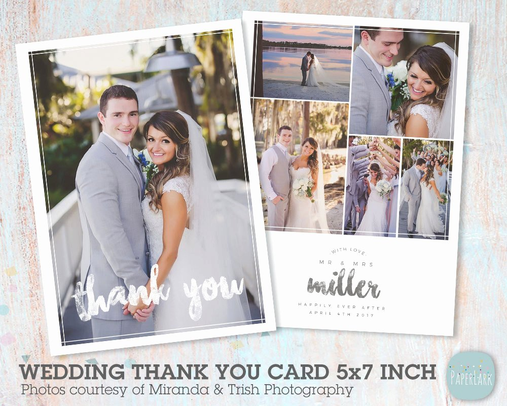 Wedding Thank You Card Template Unique Wedding Thank You Card Shop Template Aw023 Instant