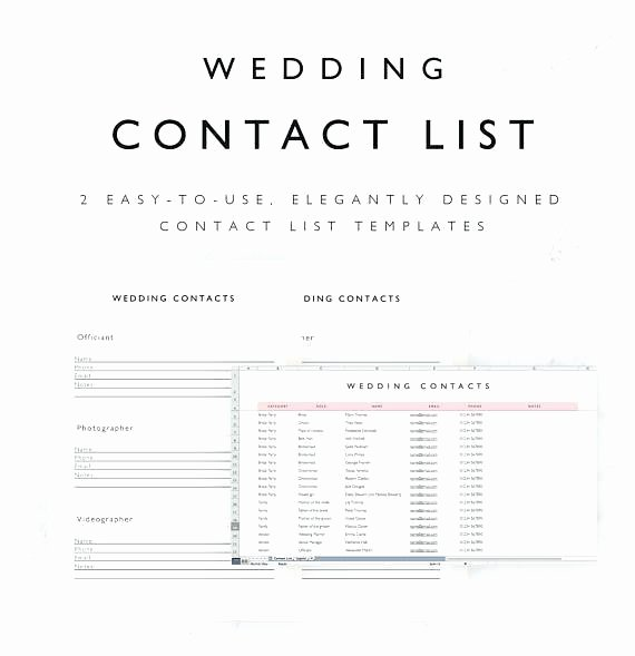 Wedding Vendor Contact List Template Fresh Wedding Supplier List Template Vendor Contact Excel