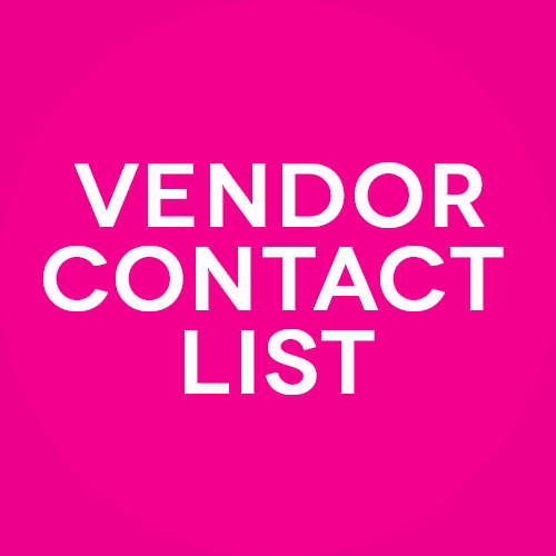 Wedding Vendor Contact List Template Inspirational Customizable and Free Wedding Spreadsheets