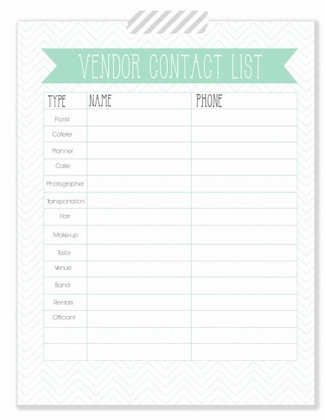 Wedding Vendors List Template Awesome the Woodlands Wedding Blog Wedding Planner Vendor Contact