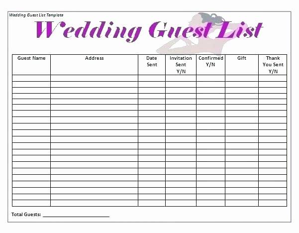 Wedding Vendors List Template Beautiful Wedding Contact List Template Contact List Templates
