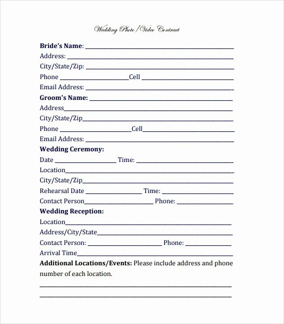 Wedding Videographer Contract Template Awesome Videography Contract Template 11 Download Free
