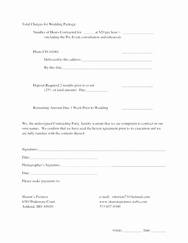 Wedding Videographer Contract Template New Videographer Contract Template Uk – Ddmoon