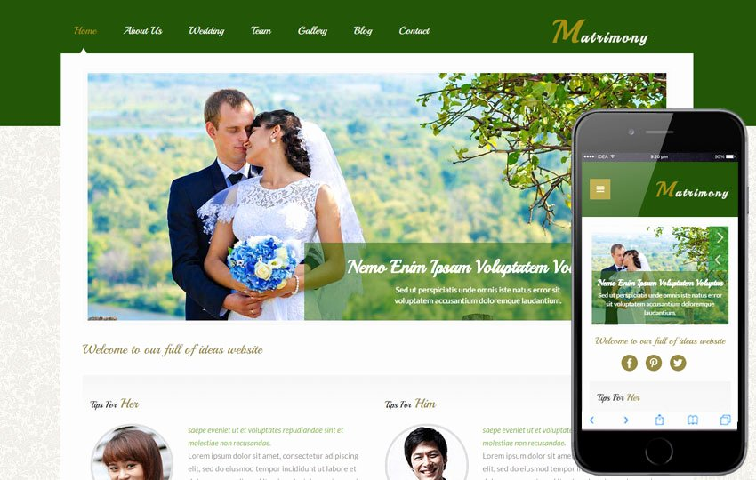 Wedding Web Template Free Awesome Matrimony A Wedding Planner Flat Bootstrap Responsive Web