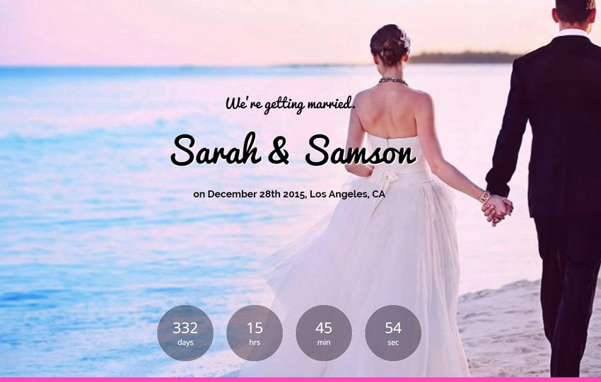 Wedding Web Template Free Awesome Wedding Website Template Free Download Webthemez