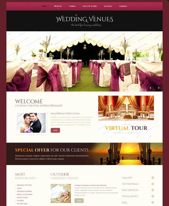 Wedding Web Template Free Elegant 70 Best Wedding Website Templates Free & Premium