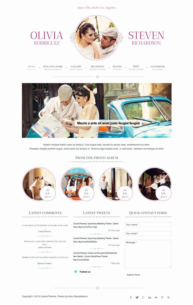 Wedding Web Template Free Elegant Best Free & Premium Wedding Website Templates