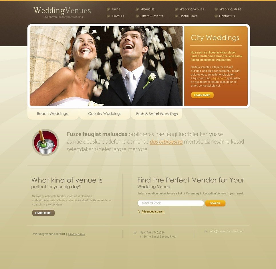 Wedding Web Template Free Elegant Wedding Venues Website Template