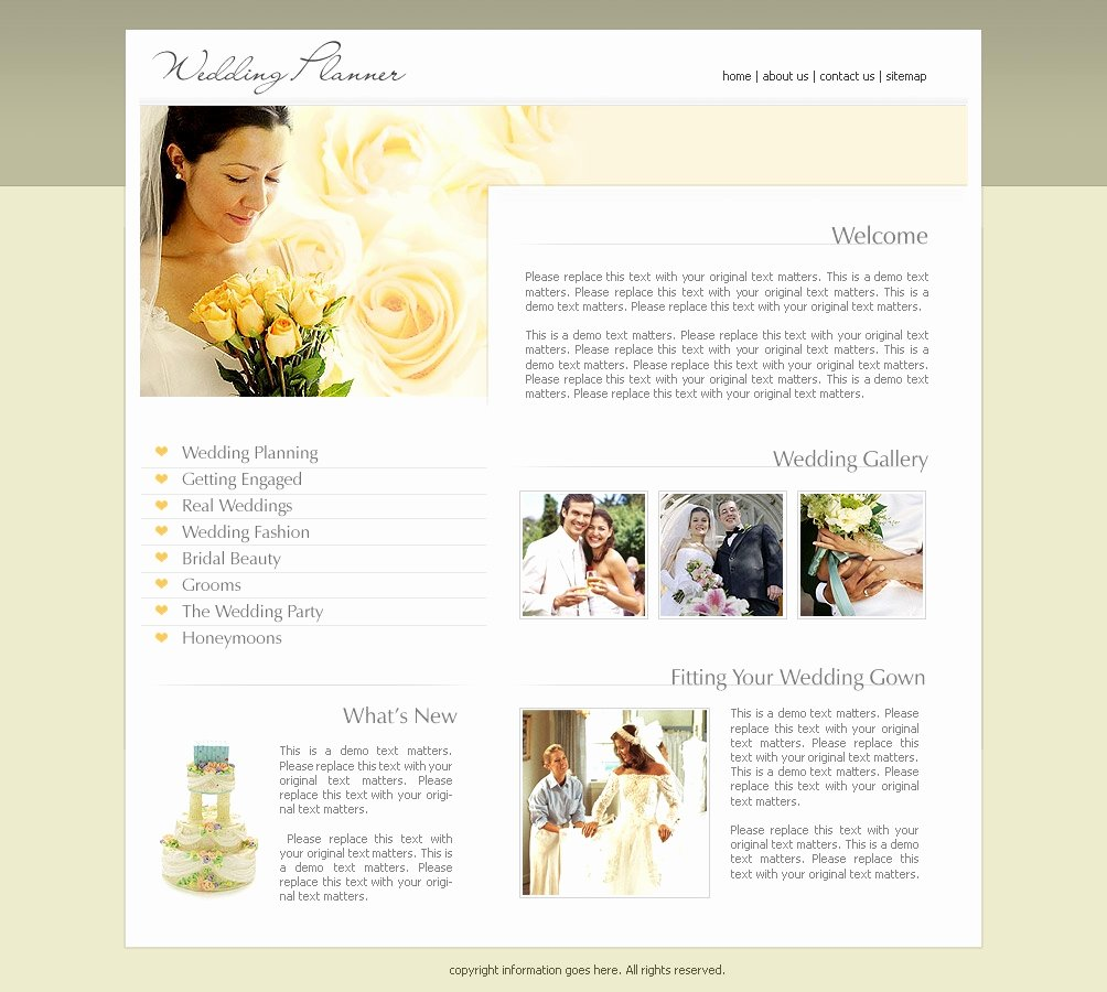 Wedding Web Template Free Elegant Wedding Website Templates
