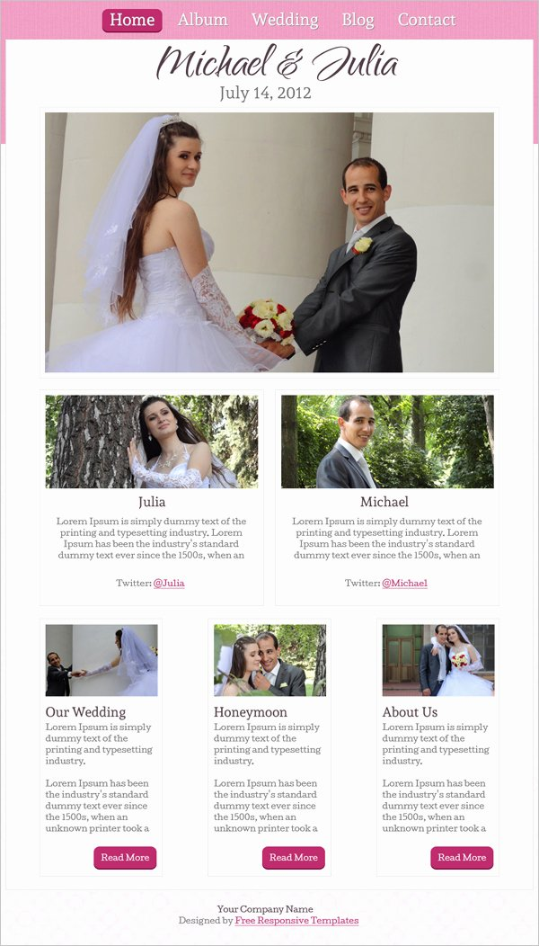 Wedding Web Template Free Lovely 15 Best Free Wedding Templates