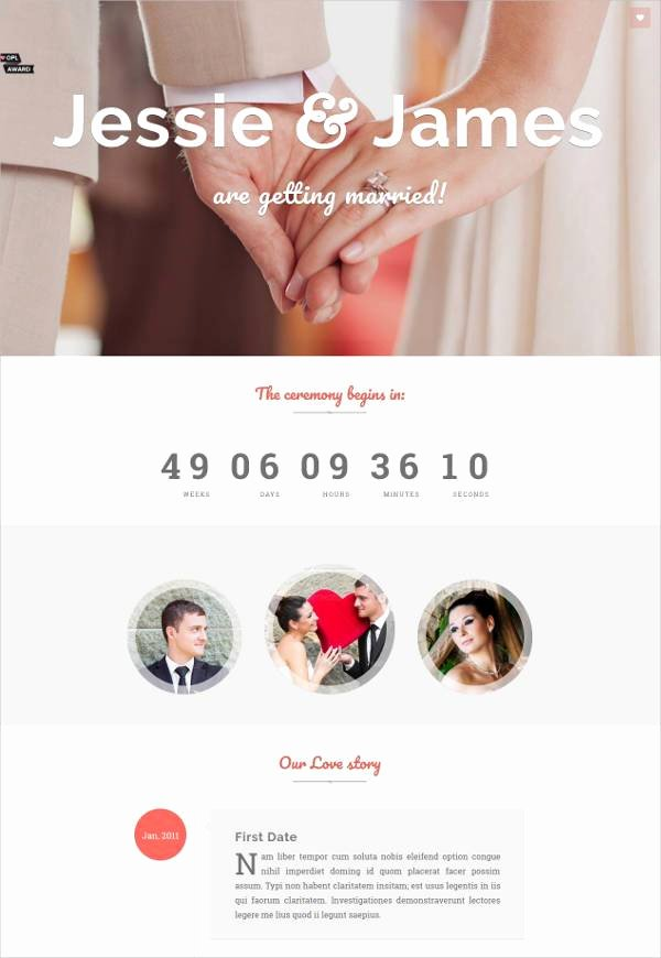 Wedding Web Template Free Lovely 37 Free Wedding Website themes & Templates
