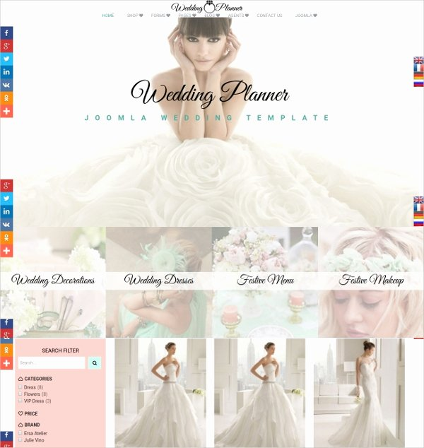 Wedding Web Template Free Luxury 19 Wedding Website themes & Templates