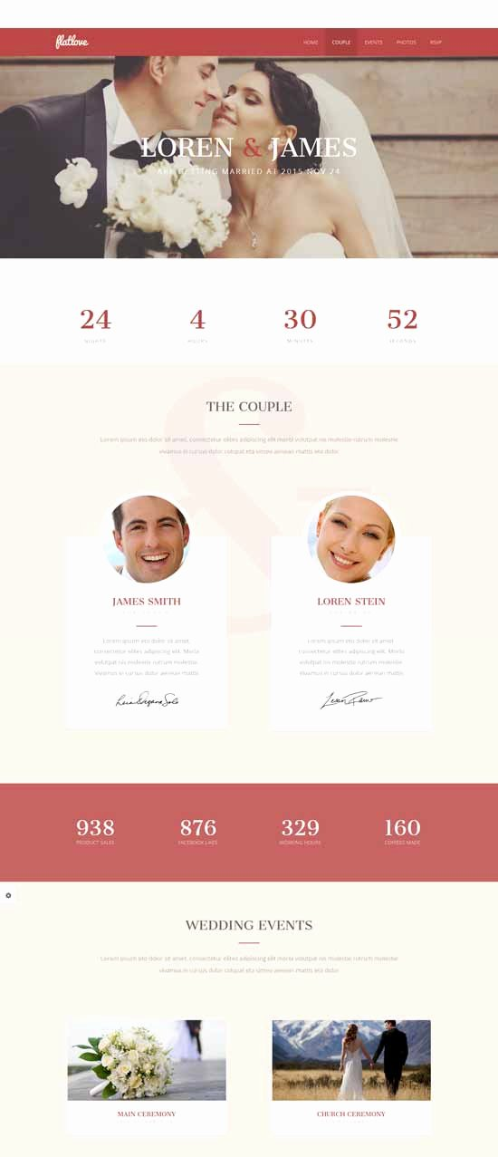 Wedding Web Template Free New 100 Best Wedding Website Templates Free & Premium