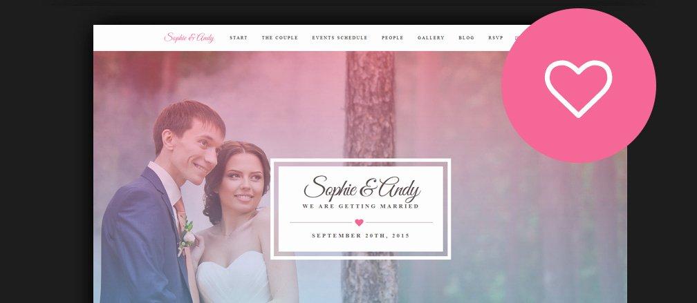 Wedding Web Template Free New 60 Best HTML Wedding Website Templates 2017