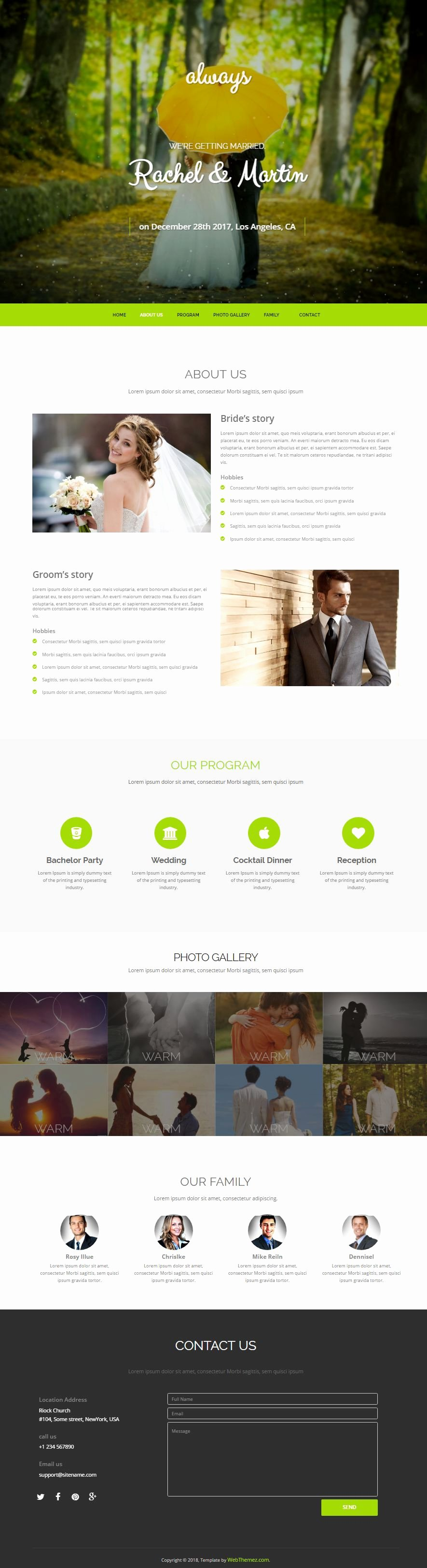 Wedding Web Template Free New HTML Bootstrap Wedding Website Template Free Download