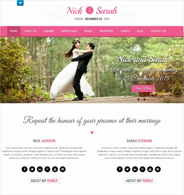 Wedding Web Template Free New Wedding Website Templates Popteenus