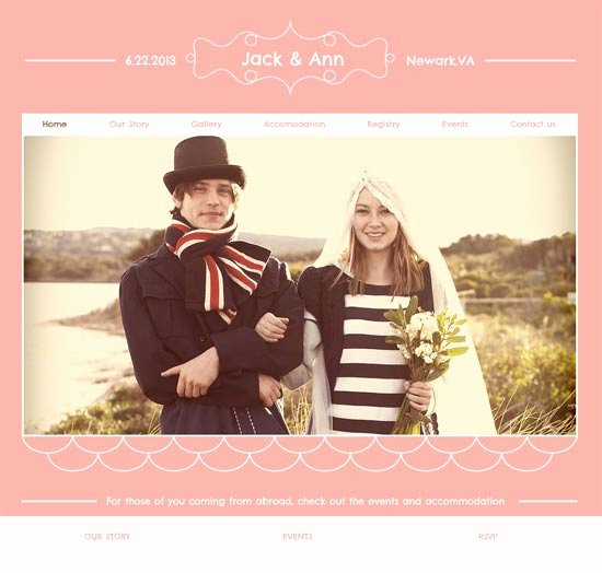 Wedding Web Template Free Unique 16 Best Wedding Website Templates – Design Freebies