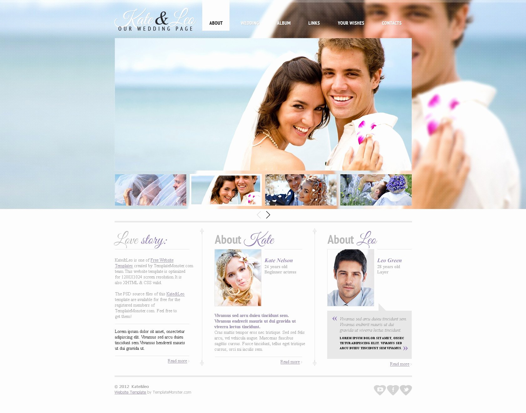 Wedding Web Template Free Unique Free Website Template Wedding Page