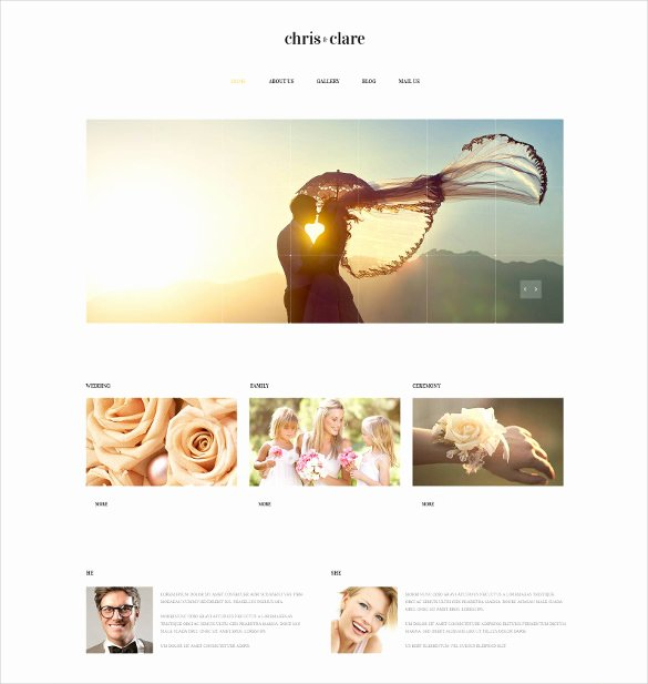 Wedding Website Template Free Awesome 30 Wedding Website themes & Templates