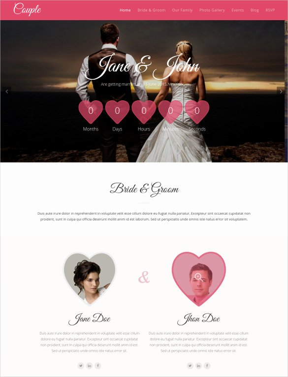 Wedding Website Template Free Awesome 37 Free Wedding Website themes & Templates