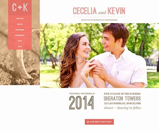 Wedding Website Template Free Awesome 70 Best Wedding Website Templates Free & Premium