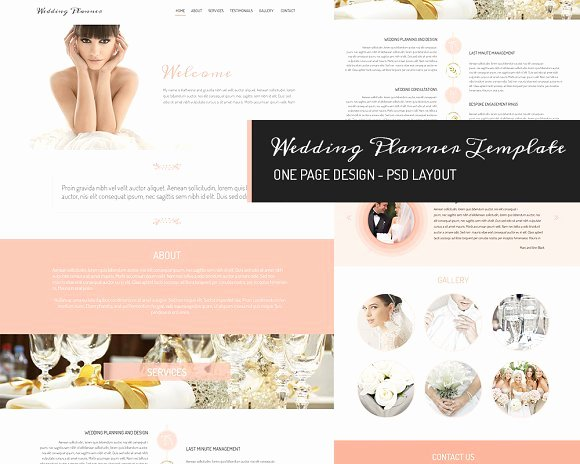 Wedding Website Template Free Beautiful E Page Design Wedding Planner Website Templates
