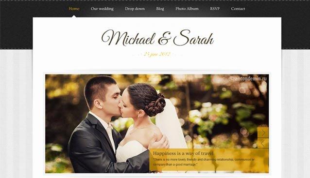 Wedding Website Template Free Best Of 25 Premium Wedding Website Templates for Inspiration