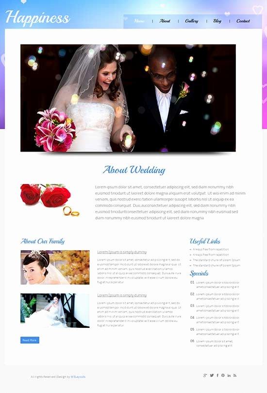 Wedding Website Template Free Elegant 70 Best Wedding Website Templates Free & Premium