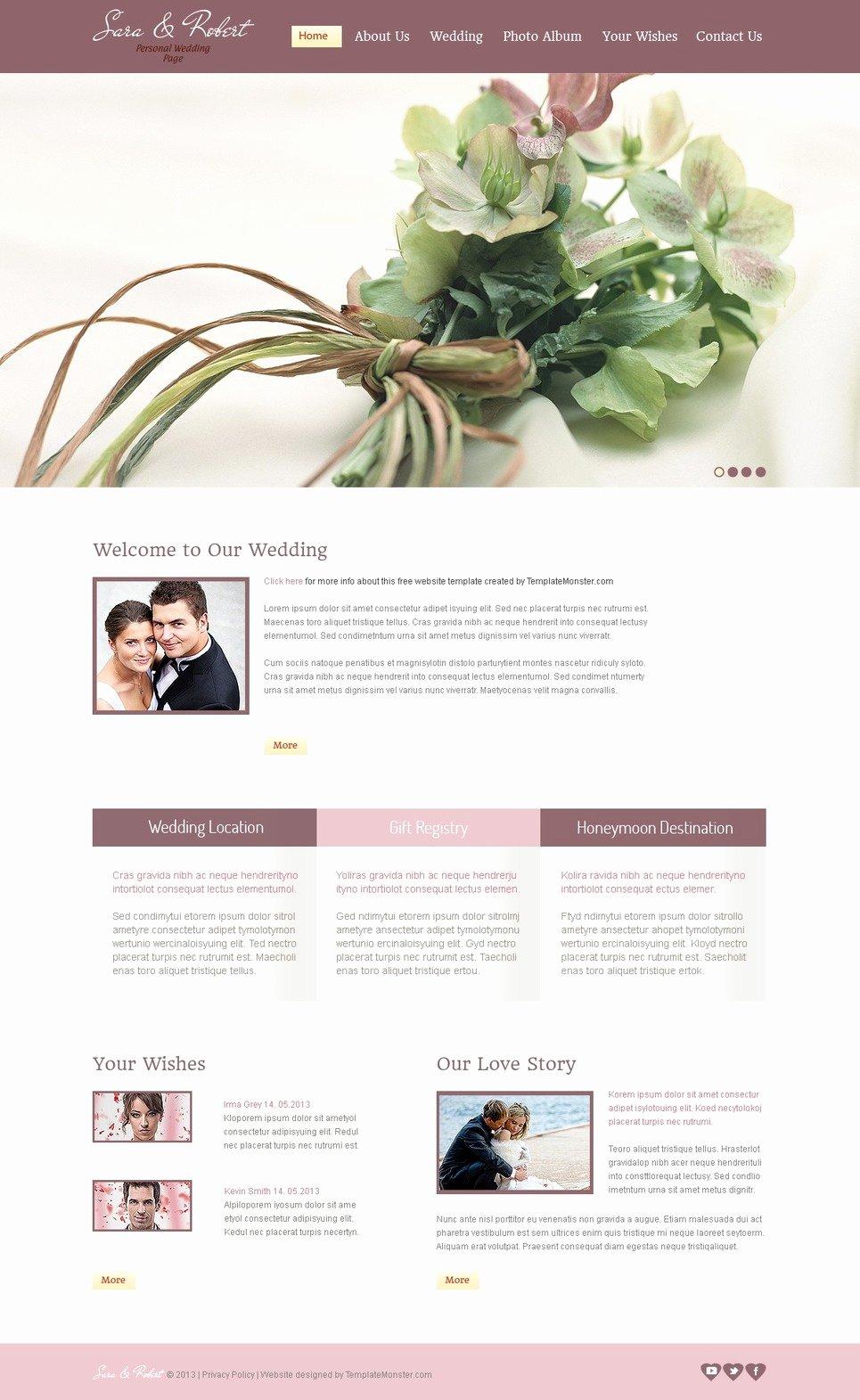 Wedding Website Template Free Fresh 15 Best Free Wedding Templates