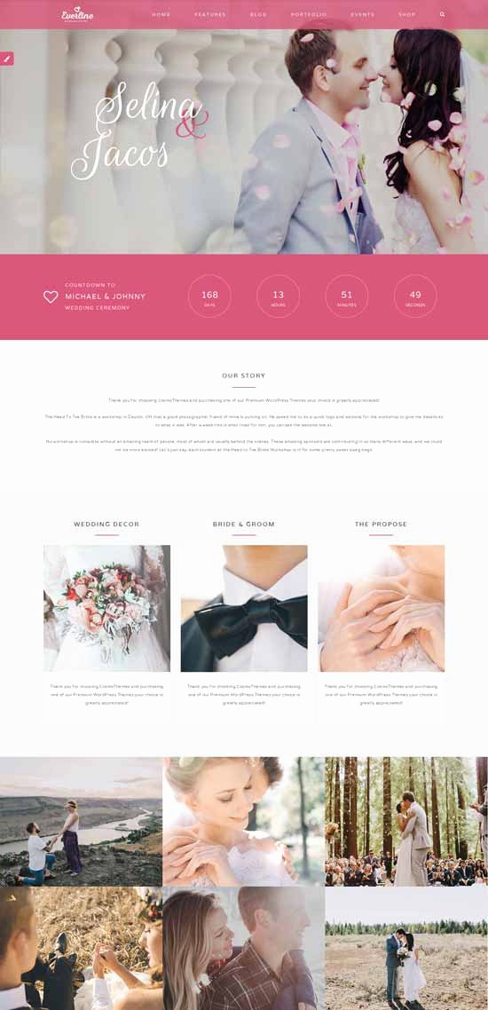 Wedding Website Template Free Inspirational 70 Best Wedding Website Templates Free & Premium