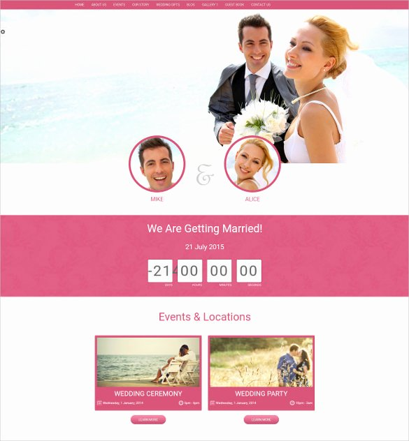 Wedding Website Template Free Lovely 21 event Bootstrap themes & Templates