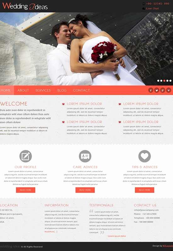 Wedding Website Template Free Lovely 70 Best Wedding Website Templates Free & Premium