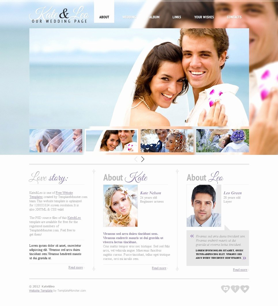 Wedding Website Template Free New Free Website Template Wedding Page