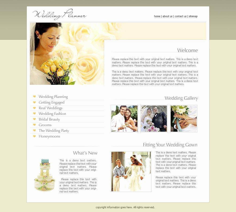 Wedding Website Template Free New Wedding Website Templates