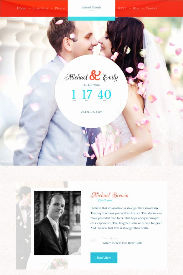 Wedding Website Template Free Unique 30 Wedding Website themes & Templates