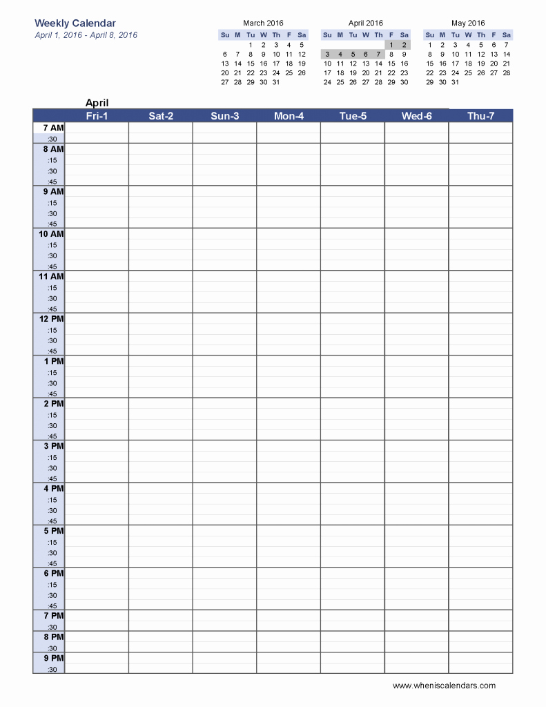 Week Schedule Template Pdf Awesome 6 Week Blank Schedule Template Weekly Calendar Template