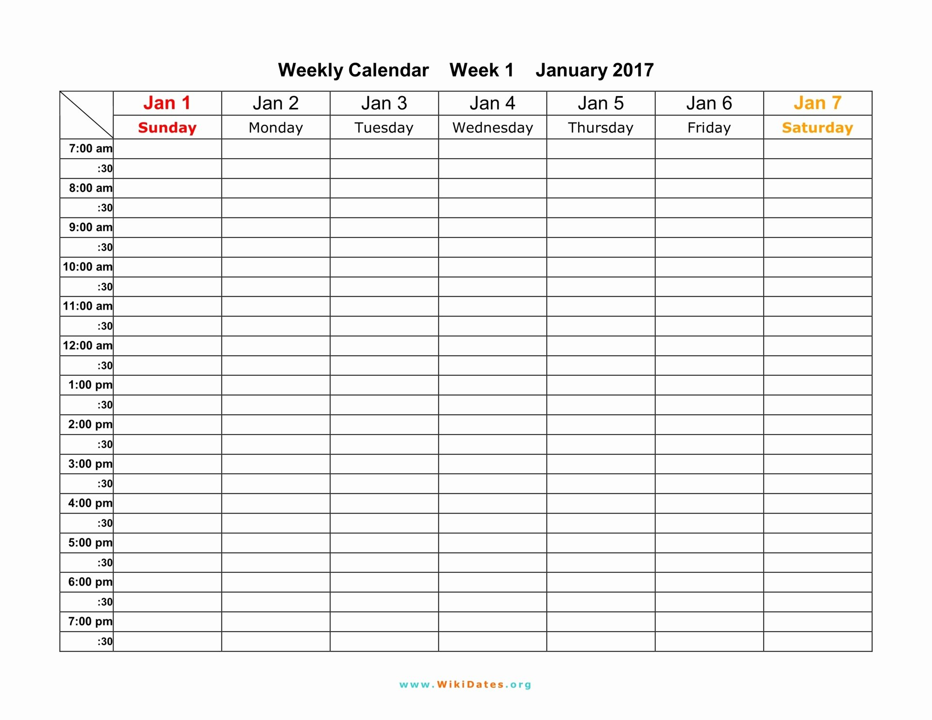 Week Schedule Template Pdf Beautiful Weekly Calendar Download Weekly Calendar 2017 and 2018